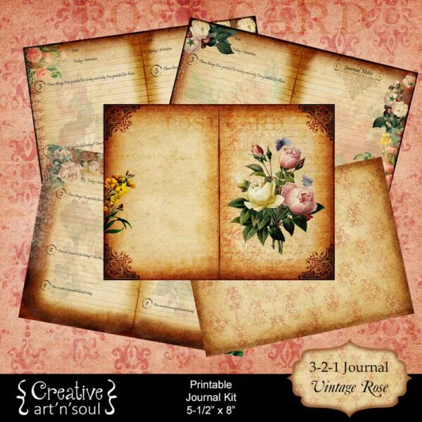 3-2-1 Printable Gratitude & Creativity Tracking Journal