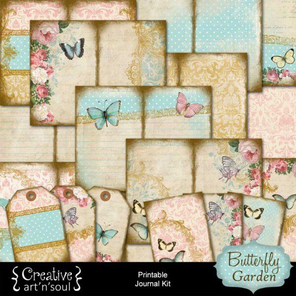 Butterfly Garden Printable Junk Journal