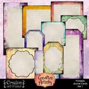 Creative Artistry Printable Journal Cards