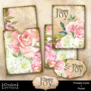 Choose Joy Printable Journal Cards and Pocket