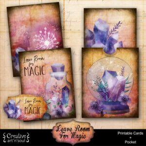 Leave Room for Magic Printable Journal Cards and Pocket