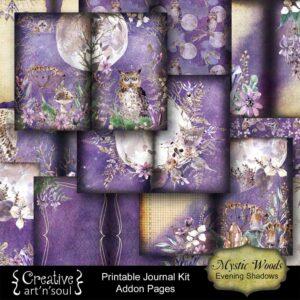 Mystic Woods Printable Addon Junk Journal: Evening Shadows