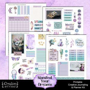 Manifest Your Dreams Printable Journal Planner Kit