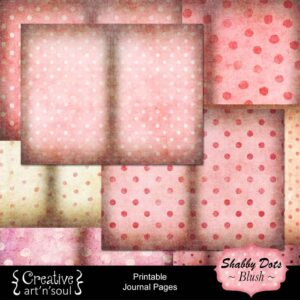Shabby Dots Blush Printable Journal Pages