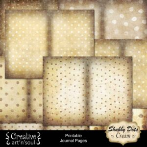 Shabby Dots Cream Printable Journal Pages