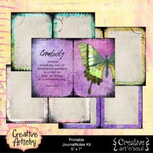 Creative Artistry Printable JournalNotes