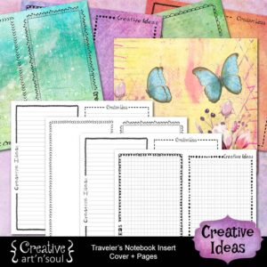 Creative Ideas Printable Traveler's Notebook Inserts