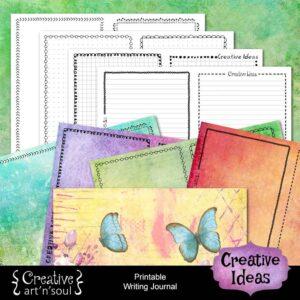 Creative Ideas Printable Writing Journal
