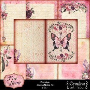 Free Spirit Printable JournalNotes