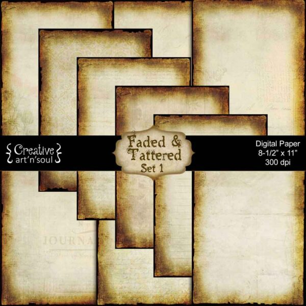 Faded & Tattered Printable Paper