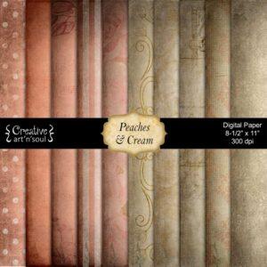 Peaches & Cream Printable Paper