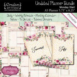 Rambling Rose Printable Planner