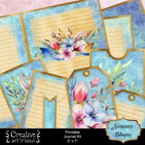 Summer Blooms Printable Junk Journal