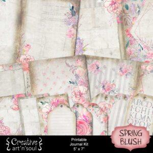 Spring Blush Printable Junk Journal