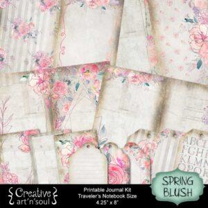 Spring Blush Traveler's Notebook Printable Journal