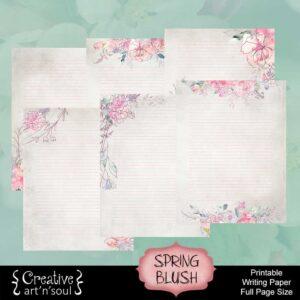 Spring Blush Printable Writing Paper