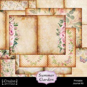 Summer Garden Printable Junk Journal
