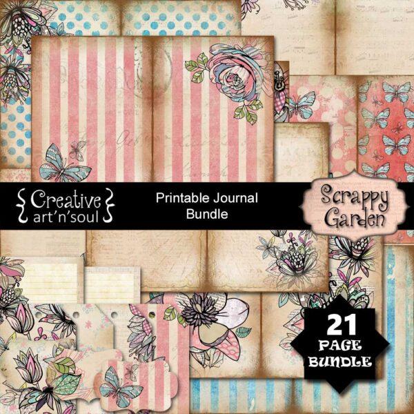 Scrappy Garden Printable Junk Journal Bundle