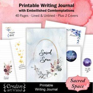 Sacred Space Printable Writing Journal