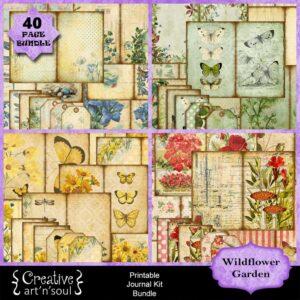 Wildflower Garden Printable Junk Journal Bundle