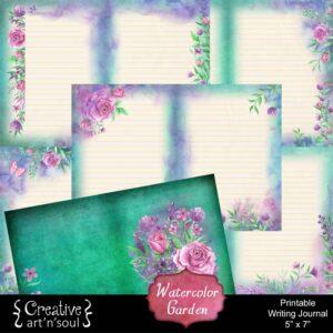Watercolor Garden Printable Writing Journal