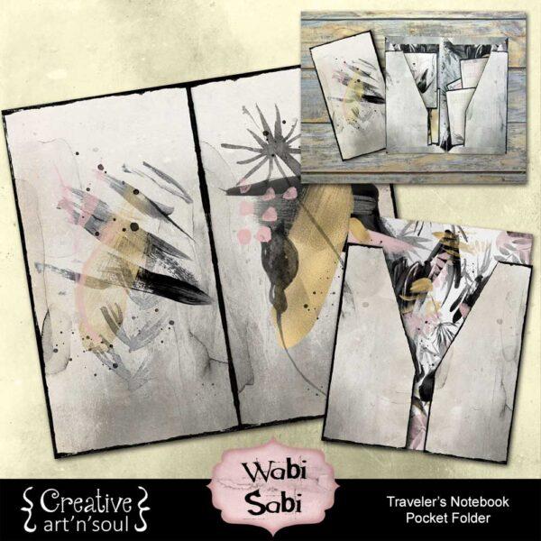 Wabi Sabi Printable Traveler's Notebook Pocket Folder