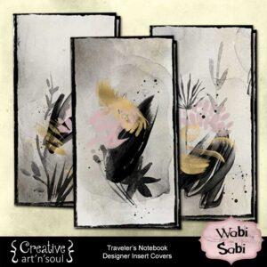 Wabi Sabi Traveler's Notebook Insert Covers