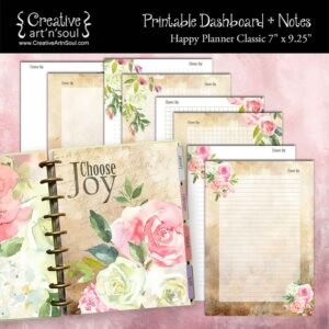 Choose Joy Happy Planner Classic Dashboard + Notes