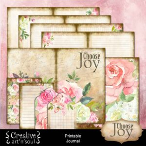 Choose Joy Printable Journal