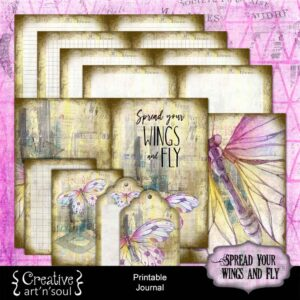 Spread Your Wings Printable Journal