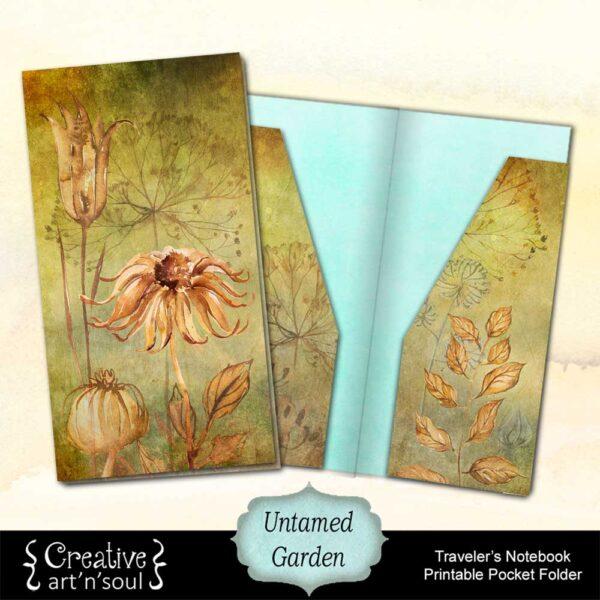 Untamed Garden Printable Traveler's Notebook Folder