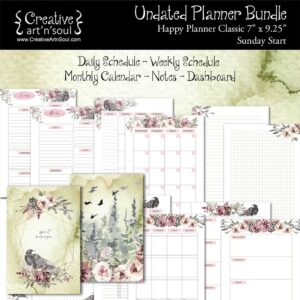 Printable Planner Bundle, Happy Planner Classic, Spirit Messenger