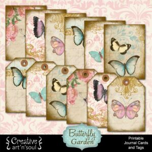 Butterfly Garden Printable Journal Cards and Tags