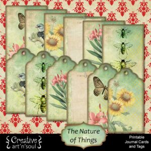 The Nature of Things Printable Journal Cards and Tags