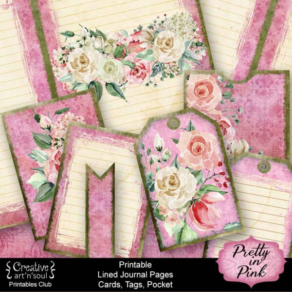 Pretty in Pink Printable Journal Pages