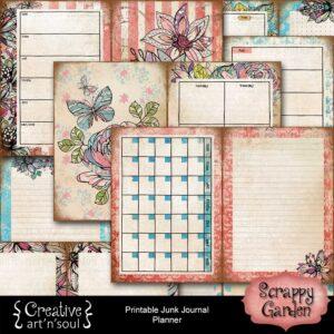 Scrappy Garden Printable Planner