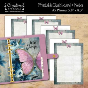 Be The Change A5 Planner Dashboard + Notes