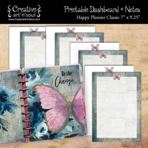 Be The Change Happy Planner Classic Dashboard + Notes