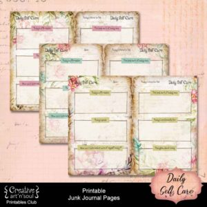 Daily Self Care Printable Journal Pages