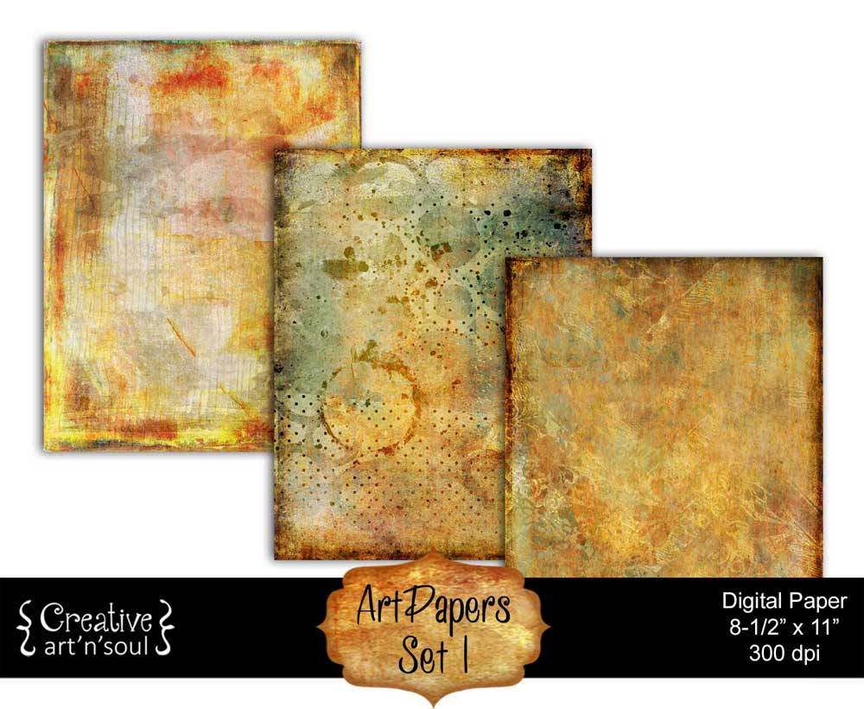 ArtPapers Set 1 Printable Paper Pack 8.5x11