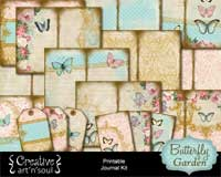 Butterfly Garden Printable Journal