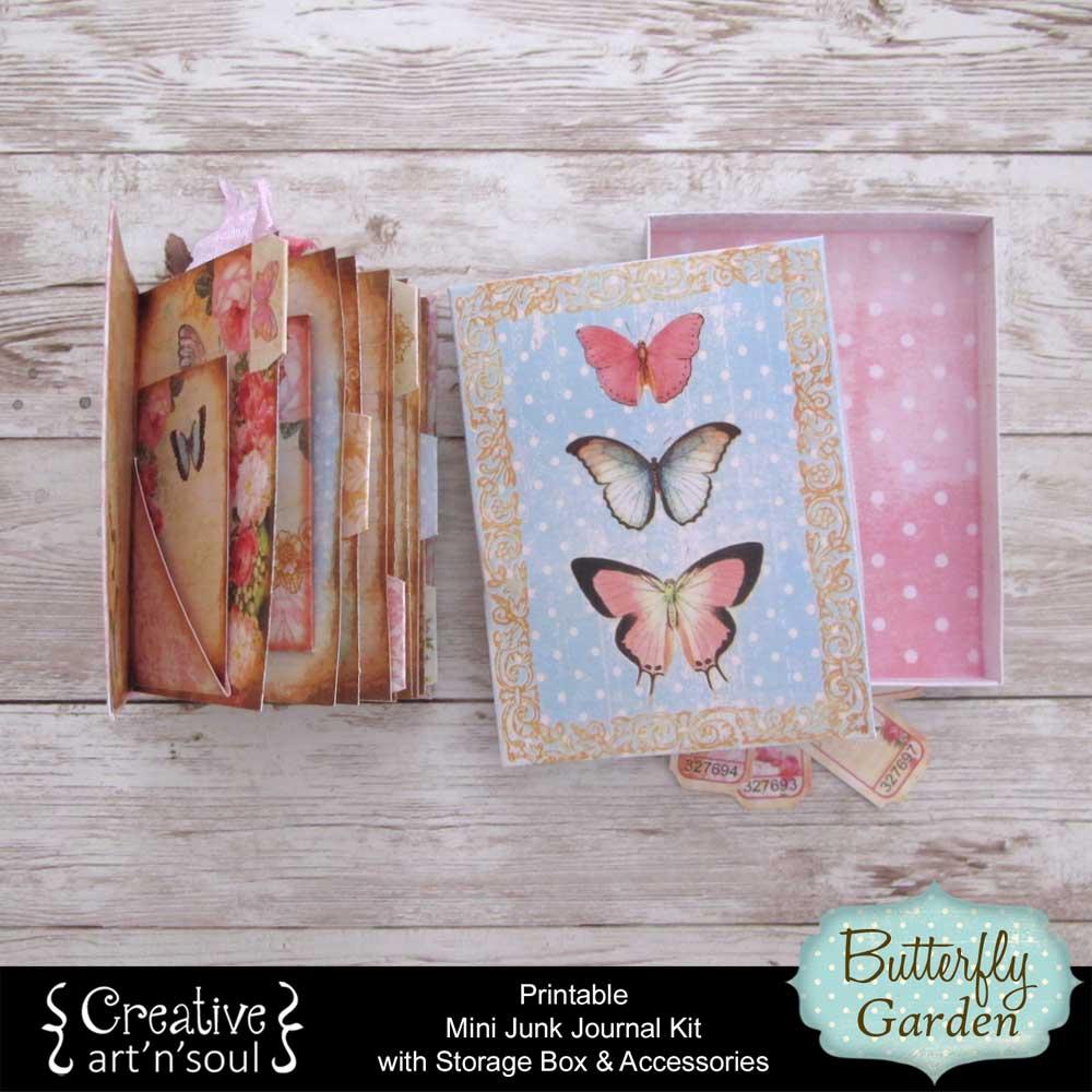 Butterfly Garden Printable Mini Junk Journal