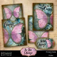 Be The Change Printable Cards