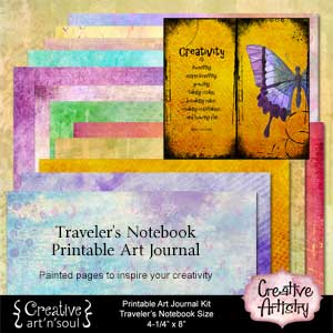 Creative Artistry Printable Art Journal Kit