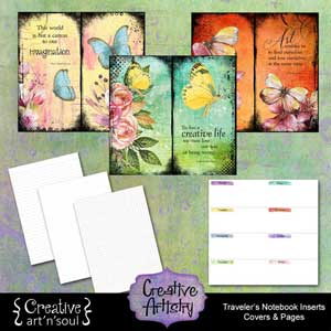 Creative Artistry Printable Traveler's Notebook Inserts