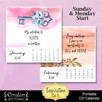Printable CD Case Calendar 2021 – Inspiration Set 5