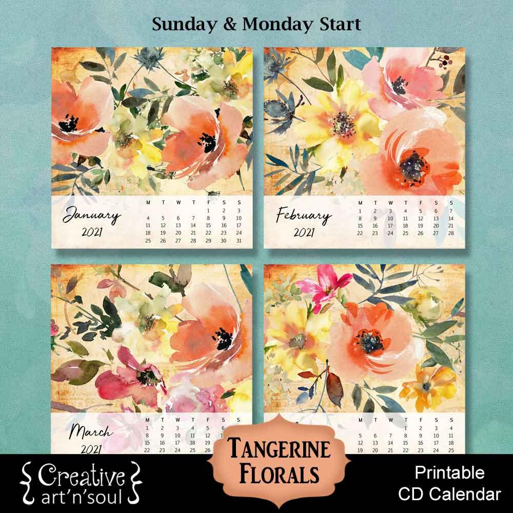 Printable CD Calendar