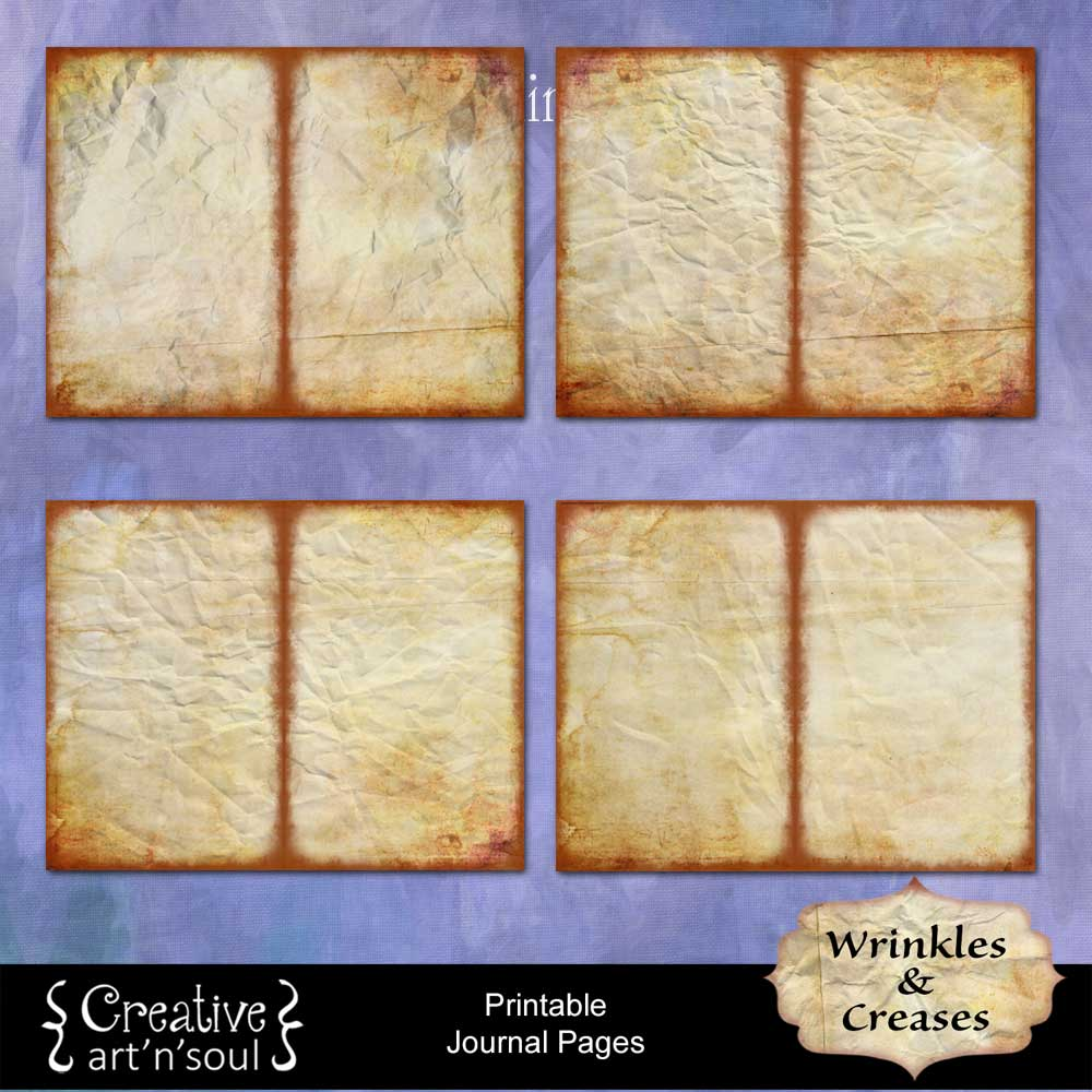 Wrinkles & Creases Printable Journal Pages