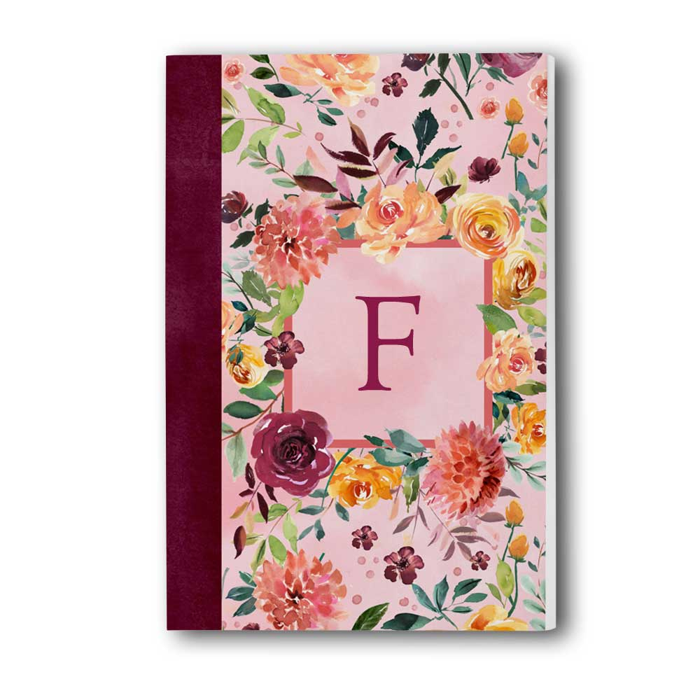 F: Floral Garden Monogram Journal