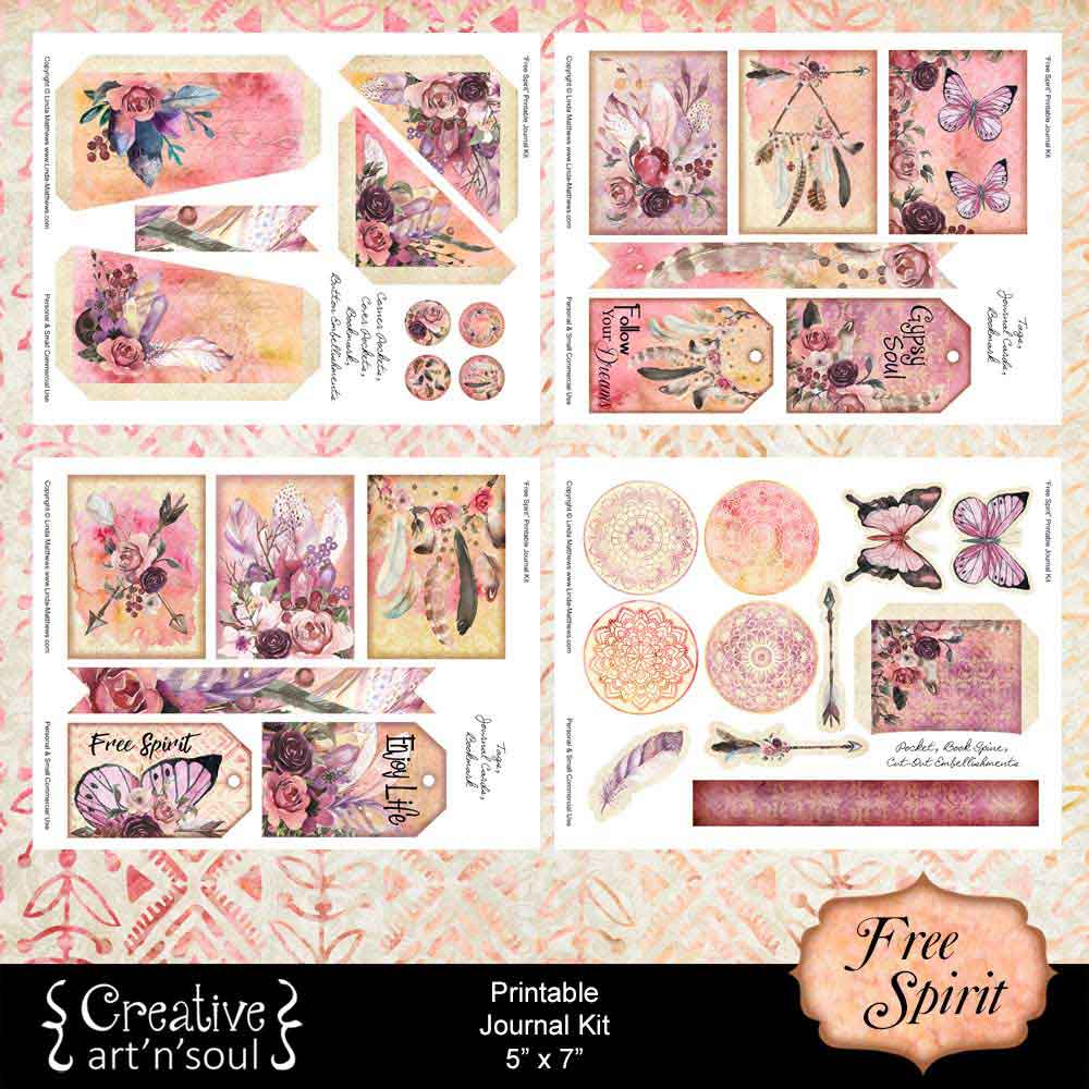 Free Spirit Printable Journal